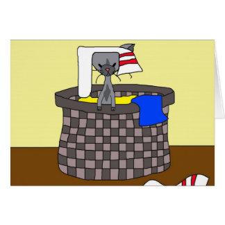 Katze in der Wäscherei (treffen Sie Mews) Karte