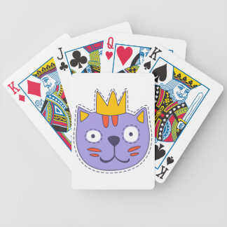 Katze in einer Krone Bicycle Spielkarten