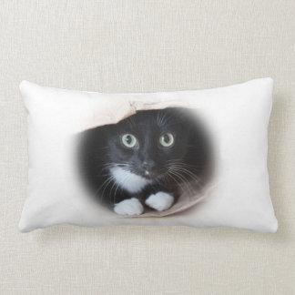Katze in einer Tasche Lendenkissen