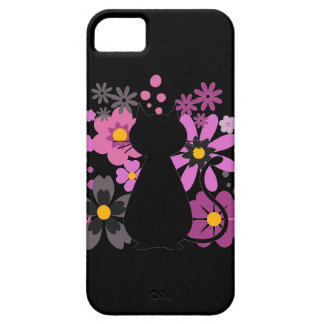 Katze in rosa Blumen IPhone 5/5S kaum dort Fall iPhone 5 Etuis
