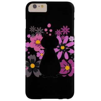 Katze in rosa Blumen IPhone 6/6S kaum dort Fall Barely There iPhone 6 Plus Hülle