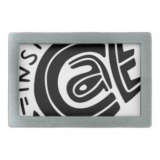Katze innerhalb der Briefgestaltung Rechteckige Gürtelschnalle