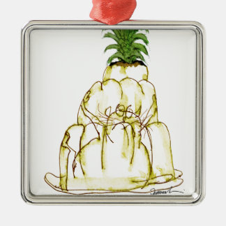 Katze jello die Ananas der tony fernandess Silbernes Ornament