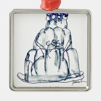 Katze jello die Pflaume der tony fernandess Silbernes Ornament