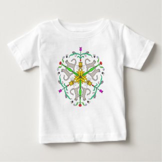 Katze kaliedoscope baby t-shirt