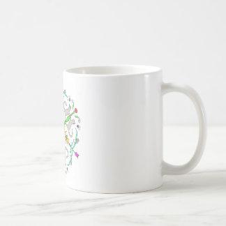 Katze kaliedoscope kaffeetasse