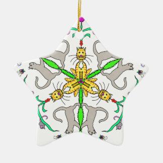 Katze kaliedoscope keramik ornament