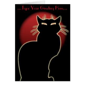 Katze kardiert kundenspezifischen grußkarte