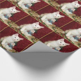 Katze, Kätzchen, Weihnachten, Rettung, Foto Geschenkpapier