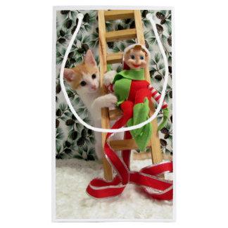 Katze, Kätzchen, Weihnachten, Rettung, Foto Kleine Geschenktüte