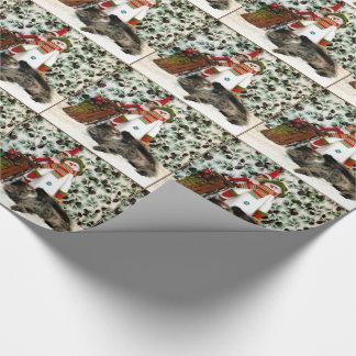 Katze, Kätzchen, Weihnachten, Rettung Geschenkpapier