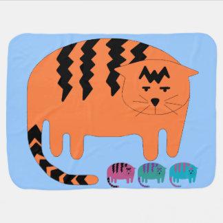 Katze, Katze, Decke des blauen Babys der Katze