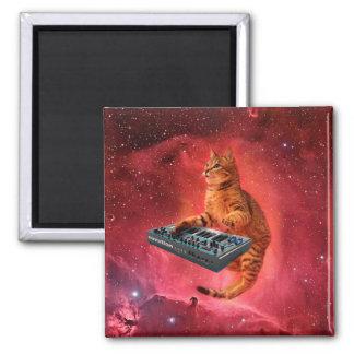 Katze klingt - Katze - lustige Katzen - Katze Quadratischer Magnet