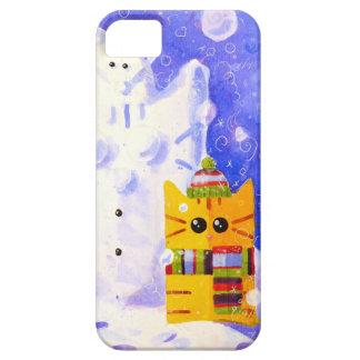 Katze, Maus und Schneemann Barely There iPhone 5 Hülle