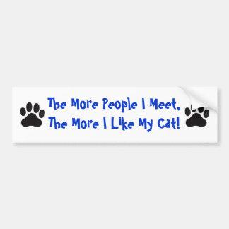 Katze, mehr Leute, die ich… mich treffe Autoaufkleber