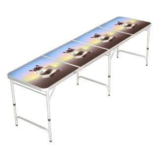 Katze mit Blume Beer Pong Tisch