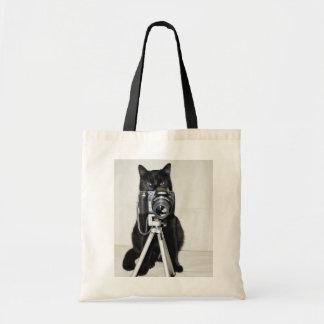 Katze mit der Kamera Tragetasche