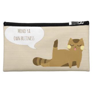 Katze mit Haltung Cosmetic Bag