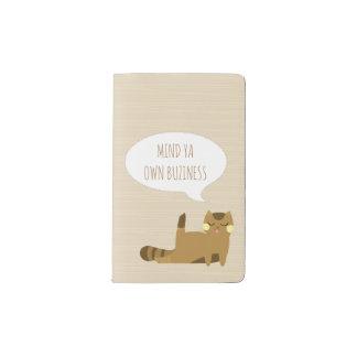 Katze mit Haltung Moleskine Taschennotizbuch