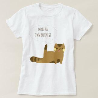 Katze mit Haltung T-Shirt
