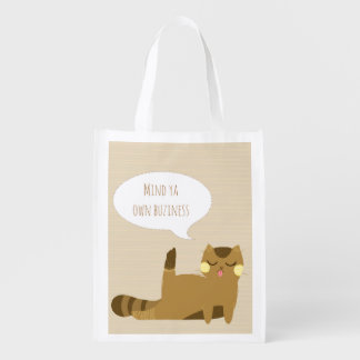 Katze mit Haltung Wiederverwendbare Einkaufstasche