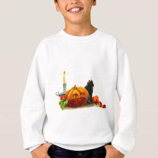 Katze mit Kürbislaterne Halloween Sweatshirt