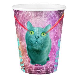 Katze mit Laser-Augen Pappbecher