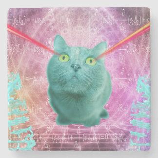 Katze mit Laser-Augen Steinuntersetzer