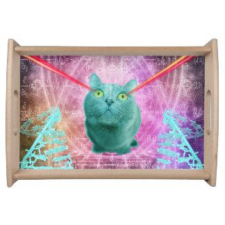 Katze mit Laser-Augen Tablett