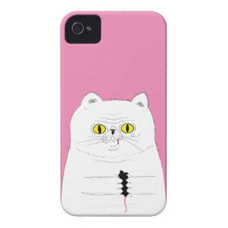 Katze mit Mäusedem lustigen Zeichnen Case-Mate iPhone 4 Hülle