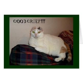 Katze mit Ohr-entspannter Geburtstags-Karte Karte