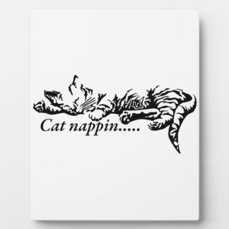 Katze nappin .......... fotoplatte
