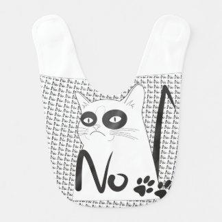 Katze nein! Lustiger Baby-Schellfisch Lätzchen