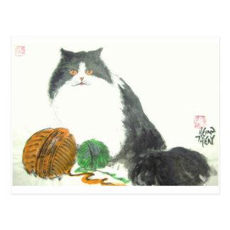 Katze Nr.38 * Katzen-Postkarte * Cat-Art-Postcards Postkarte
