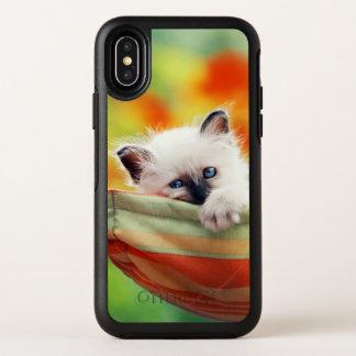Katze OtterBox Symmetry iPhone X Hülle