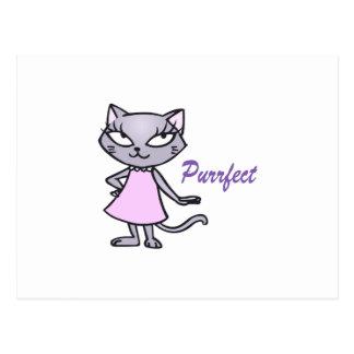 Katze Purrfect Postkarte