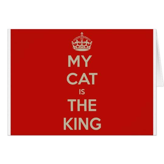Katze Qoute Grußkarte