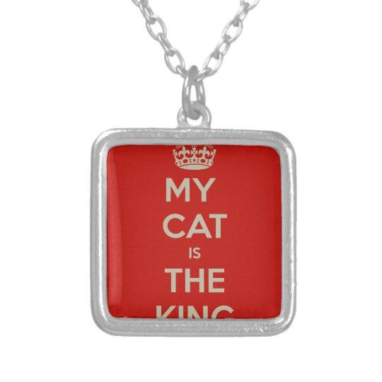 Katze Qoute Halskette Mit Quadratischem Anhänger