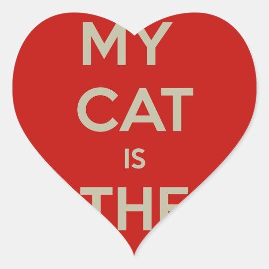 Katze Qoute Herz-Aufkleber