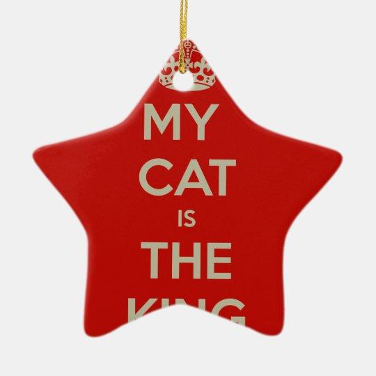 Katze Qoute Keramik Stern-Ornament