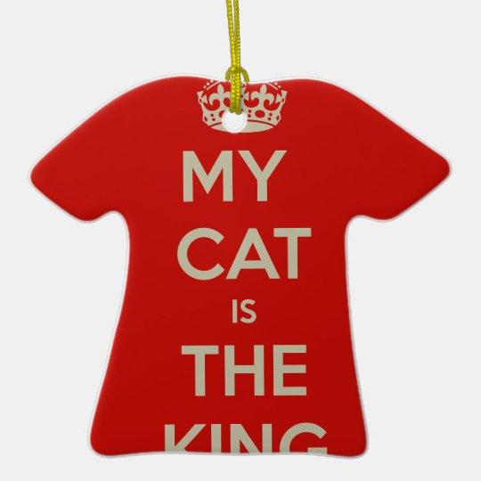 Katze Qoute Keramik T-Shirt-Ornament
