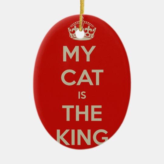 Katze Qoute Ovales Keramik Ornament
