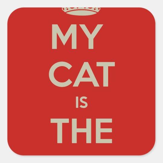 Katze Qoute Quadratischer Aufkleber