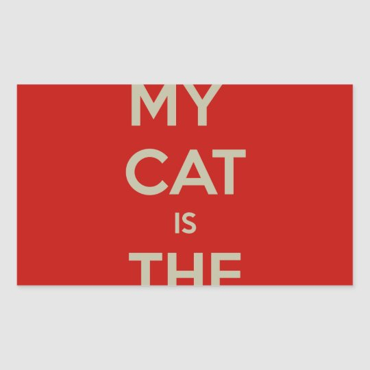 Katze Qoute Rechteckiger Aufkleber