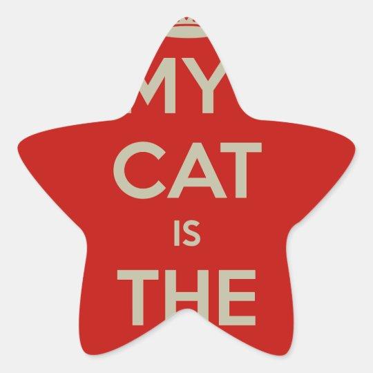 Katze Qoute Stern-Aufkleber