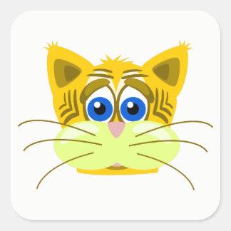 Katze Quadratischer Aufkleber