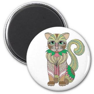 Katze Runder Magnet 5,7 Cm