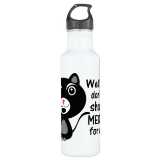 Katze sagt lassen mich mein Meowth schließen Trinkflasche