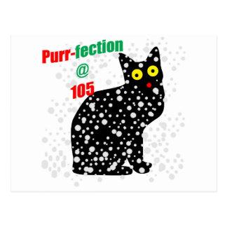 Katze Schnurren-fection des Schnee-105 Postkarte