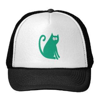 Katze sitzen und schauen zurück grüne hallo-Augen Retrocap